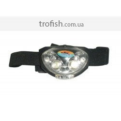 Fishing ROI  Фонарь Head Lamp 4 White Led & 2 Red Led