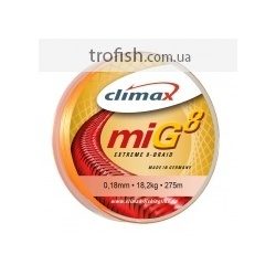 Climax Шнур  Mig Extreme 8 Braid Fluo-Yellow  135 m  NEW 2017