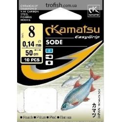 Kamatsu Крючки  Sode  К-001 G  c поводком   50 cm