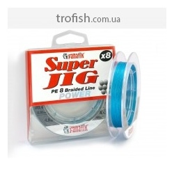 Fanatik  Шнур плетеный  Super Jig PE X8 75 m blue