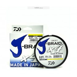 Daiwa Шнур  J-Braid X4E Yellow