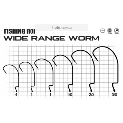 Крючки Fishing ROI Wide range worm