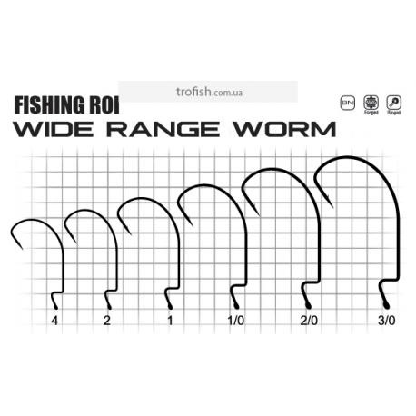 Крючки Fishing ROI Wide range worm