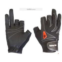 Fishing ROI  Перчатка спиннингиста  WK-05 black  (c 2 пальц.)